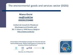 Sept Asbl Service Detude Et Measuring The Environmental Goods And Services Sector Issues And