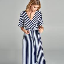 navy striped wrap around dress u2013 love kuza