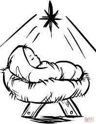 manger coloring page kids color pages manger scene nativity story