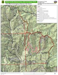 Idaho Fires Map Idaho Fire Information Road And Trail Closure Associated With The