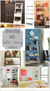 Shelf Decorating Ideas Living Room Decorating With Leaning Ladder Shelves Jenna Burger