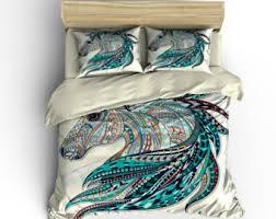 Girls Horse Comforter Horse Bedding Etsy