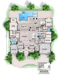 house plans with courtyard pools baby nursery house plans with pools single floor house plans