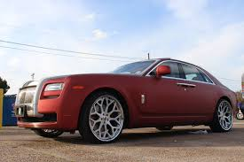 matte rolls royce ghost veltboy314 brushed red wrapped rolls royce ghost on 24