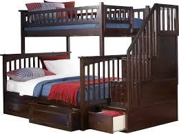 Bunk Beds Wood More Carefree And Peaceful Solid Wood Bunk Bed With Stairs