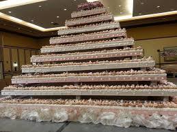 biggest wedding cake idea 2017 bella wedding