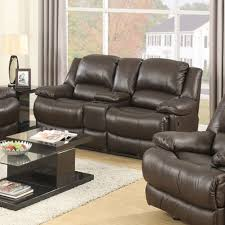 Brown Leather Loveseat Marshall Avenue Power Reclining Loveseat With Console U2013 Jennifer