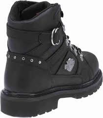 womens boots harley davidson harley davidson s ester 5 5 inch black motorcycle leather
