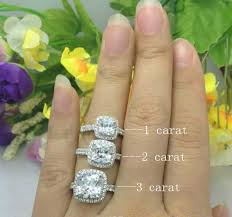 2 carat cushion cut engagement ring 2ct cushion cut engagement rings 925 sterling silver wedding ring