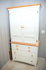 diy craft armoire with fold out table craft armoire with table furniture diy storage everythingbeauty info