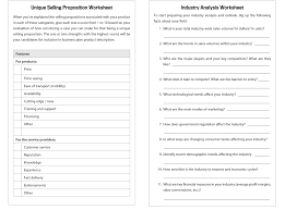the essential guide to writing a business plan worksheets sample