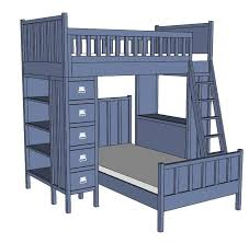 Free Diy Loft Bed Plans by 70 Best Bunk Bed Plans Images On Pinterest Bunk Bed Plans 3 4