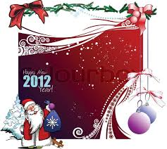 greeting card for merry or happy new year stock vector