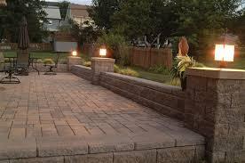 Patio Column Lights Brick Patio Wall Designs Simple Design Home Ideas Walls Calladoc Us