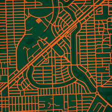 University Of Miami Campus Map by University Of Miami Campus Map Art City Prints