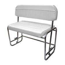 wise seating deluxe pontoon series stainless steel swingback seat