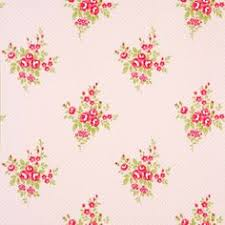 vintage shabby chic floral stripe wallpaper white pink