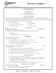 Resume Templates For Recent College Graduates College Resume Examples Resume Example And Free Resume Maker