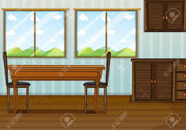 Conversing Dining Table 3 394 Dining Table And Chairs Stock Vector Illustration And