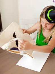 best personalized halloween treat bags halloween kids u0027 craft glittered trick or treat bags hgtv