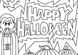 halloween coloring pages free happy halloween pictures 2017