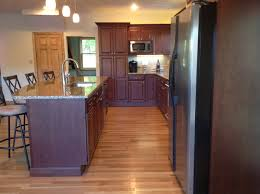 a kitchen remodel in exeter rhode island went from small and