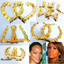 swag earrings jewels gold heart swag hoop earrings hoop earrings