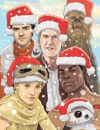 wars christmas wars awakens christmas card