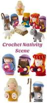 adorable crochet nativity scene with all the characters from the
