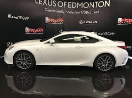 white lexus 2016 used 2017 lexus rc 350 2dr cpe awd 2 door car in edmonton ab l12382