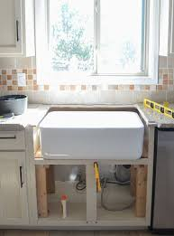 how to install farm sink in cabinet how to install a farmhouse kitchen sink in 5 steps kitchen