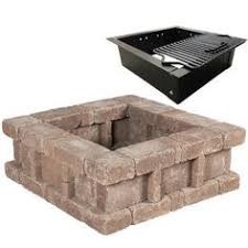 black friday fire pit home depot diy instructions for a pavestone rumblestone column wall