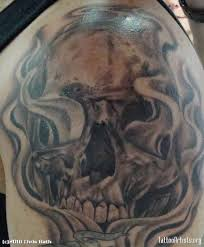 pics photos skulls and smoke sleeve tattoos
