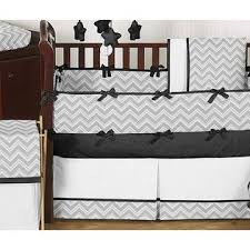 Zig Zag Crib Bedding Set Sweet Jojo Designs Zig Zag Black And Gray Collection 9pc Crib