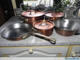 batterie de cuisine en cuivre a vendre 2ememain be
