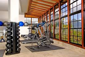 small home gym decorating ideas simple home gym with a stunning view it changes your mood in a