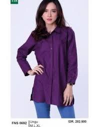 blouse wanita pakaian baju blouse wanita garsel fashion fns 0692 ungu sepatu