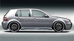 volkswagen golf custom custom side skirts for volkswagen golf mk4