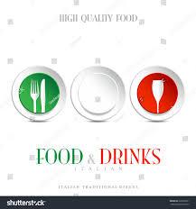 italian restaurant logo italian hearts logo stock vector 229698331