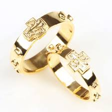 catholic rosary ring 14k gold rosary ring www estherleejewel gold