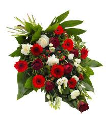 flower for funeral sheaf in white and green delivered with care designed