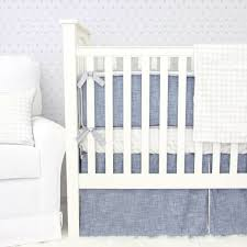 White Nursery Bedding Sets by Stuart U0027s Denim U0026 Silver Baby Bedding Caden Lane
