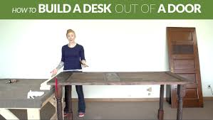 Solid Core Door Desk How To Make A Rustic Desk Out Of A Door Youtube