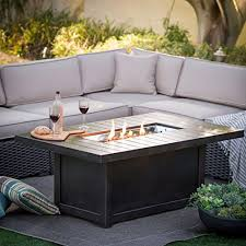 amazon gas fire pit table amazon com napoleon patioflame chat height fire pit coffee table