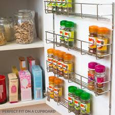 wall mounted kitchen storage cupboards andrew spice rack with tiers options large chrome