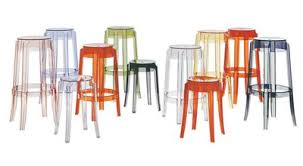 Ghost Bar Stools Charles Ghost Bar Stool H 65 Cm Plastic Cristal By Kartell