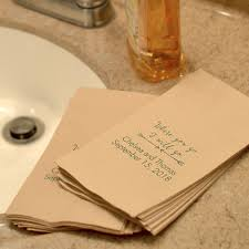wedding bathroom basket ideas personalized paper guest towels my wedding reception ideas
