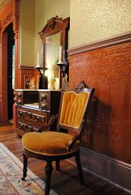 dining room chair rail wainscotting wallpaper