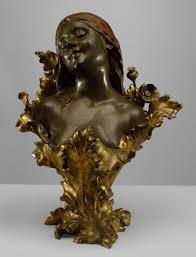 nouveau nouveau figure bust bronze favourite busts and