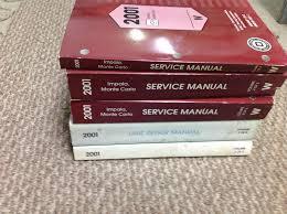 2001 chevy chevrolet impala monte carlo service shop repair manual